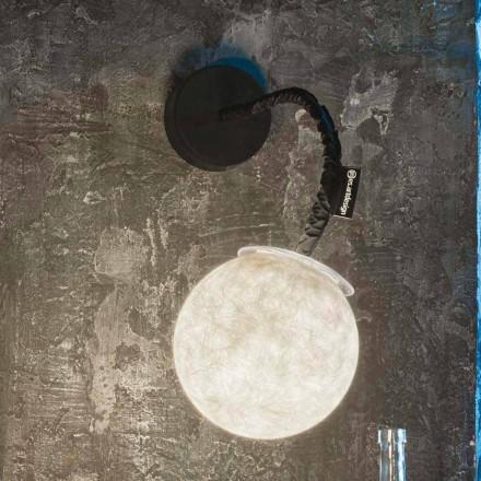Moderne væglampe In-es.artdesign Micro Luna Applique i nebulit