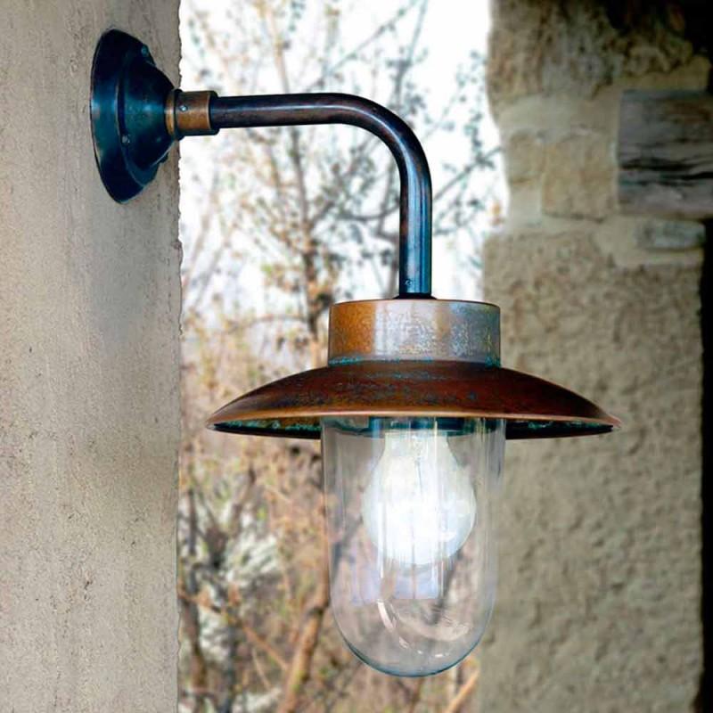 Applikation Nabucco, kobber væglampe, glas, messing