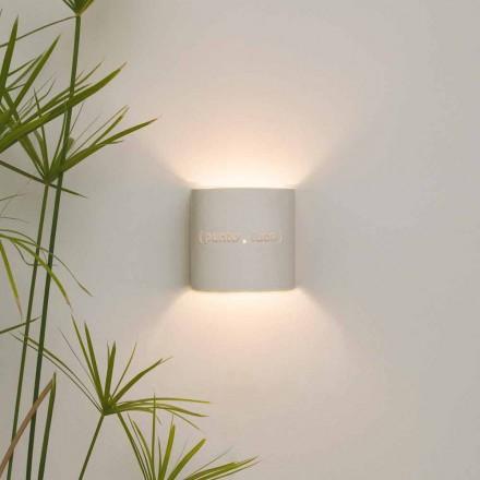 Moderne to-tone nebulite væglampe In-es.artdesign Punto Luce design