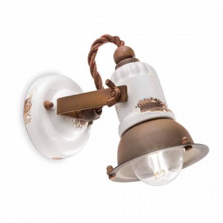 Applique justerbar keramik og metal spotlight Kendra Ferroluce