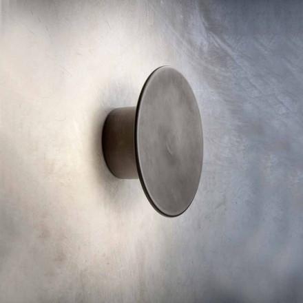 Væglampe til moderne udvendigt i kobber fremstillet i Italien - Pasdedeux Aldo Bernardi