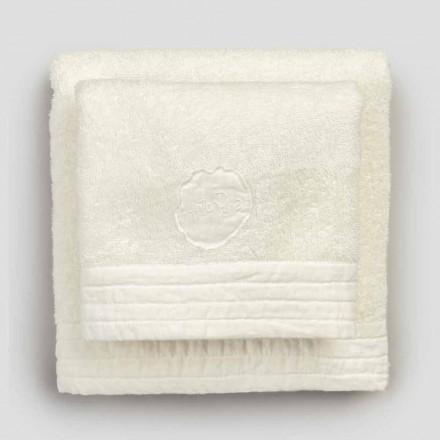Ansigt og gæstehåndklæder i Terry og linnedblanding 2 farver, 2 stykker - kilim