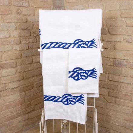 Håndlavet håndklæde i unikt bomuld fremstillet i Italien