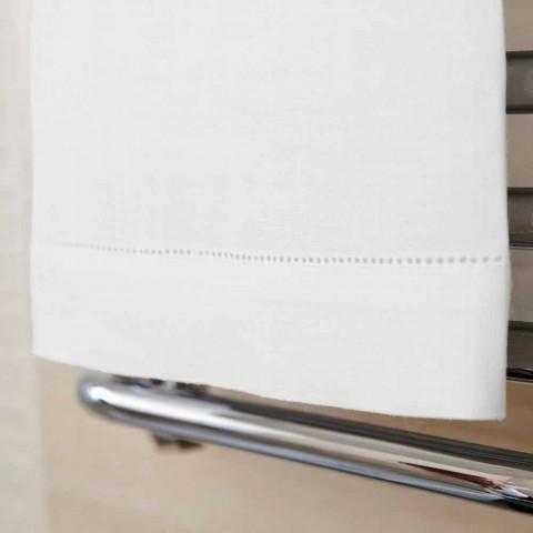 Hvid eller naturlig linned badehåndklæde fremstillet i Italien - Chiana