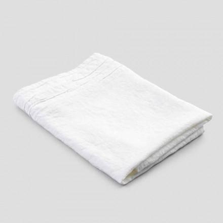 Italiensk håndlavet luksus hvid kraftigt linned badehåndklæde - Jojoba