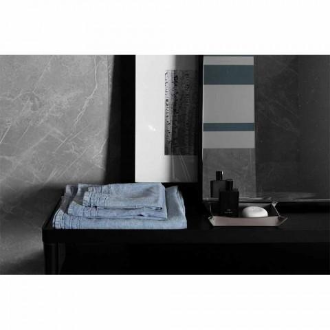 Lyseblåt, kraftigt ansigtshåndklæde i linned, italiensk luksusdesign - Jojoba