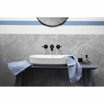 Lyseblå tunge linned gæstehåndklæde italiensk luksus design - Jojoba