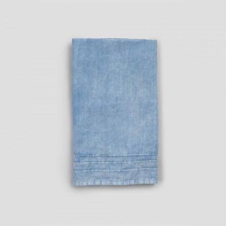 2 blå tunge linned gæstehåndklæder af luksuriøst italiensk design - Jojoba