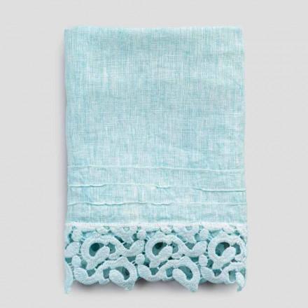 Tung linned ansigt håndklæde med Poema blonde 2 stykker 2 farver - slot