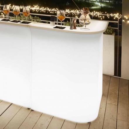 Udendørs hjørne lys skrivebord Slide Break Corner, lavet i Italien