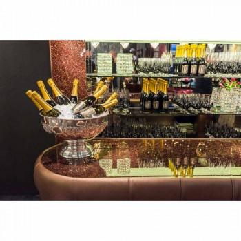 Baretæller med glitterglasplade Fremstillet i Italien, luksus - Calcutta