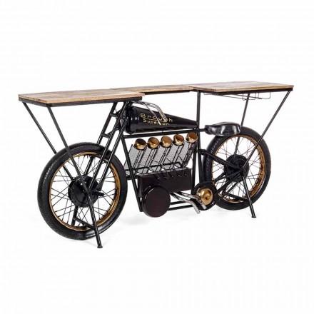 Konsolstang til moderne design i motorcykel i mangotræ og stål - sjalot