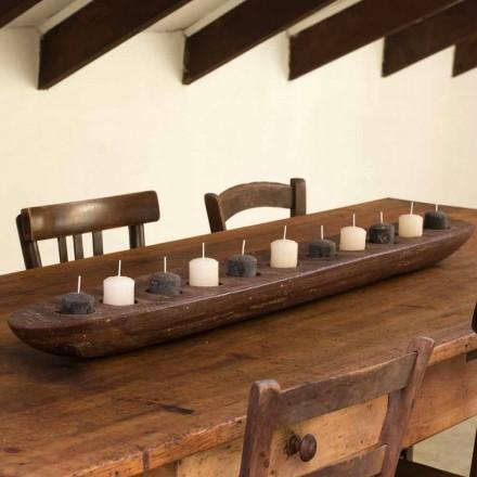 Voksbåd med brune eller elfenbenlys inkl. Fremstillet i Italien - Ludvig