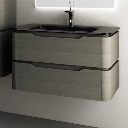 Moderne design suspenderet vask base 85x55x55cm Arya lakeret træ