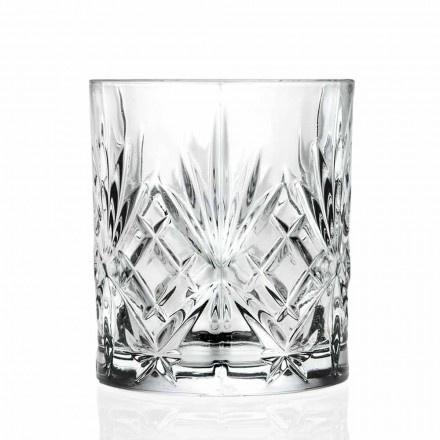 Dobbelt gammeldags glas, vintage stil øko-krystal 12 stykker - Cantabile