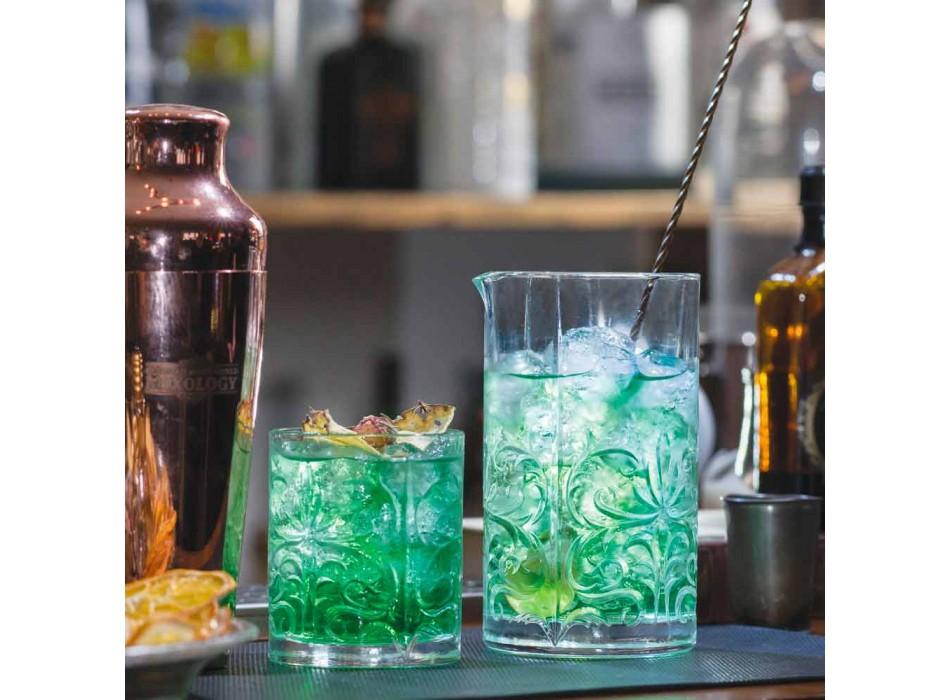Blandingsglas med excentrisk dekoration Luksusdesign 4 stykker - Destino