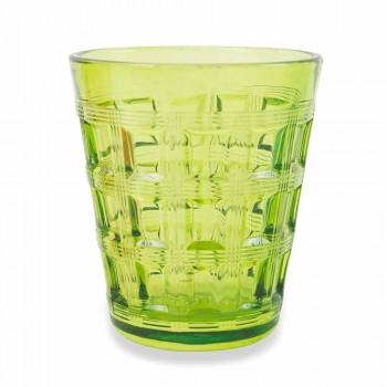 6 farvede service farvede glas vandbriller - vævning