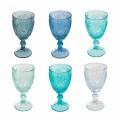 12 stykker farvet vin eller vandglas - Mazara