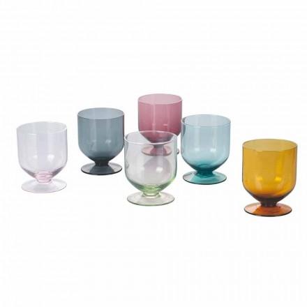 Farvede briller i originalt designglas, 12 stykker service - batter
