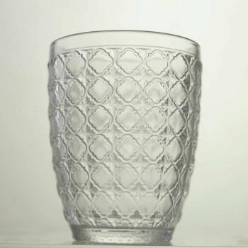 6 stykker, der serverer briller i gennemsigtigt glas til vand - optisk