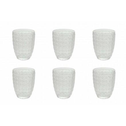 12 stykker, der serverer briller i gennemsigtigt glas til vand - optisk