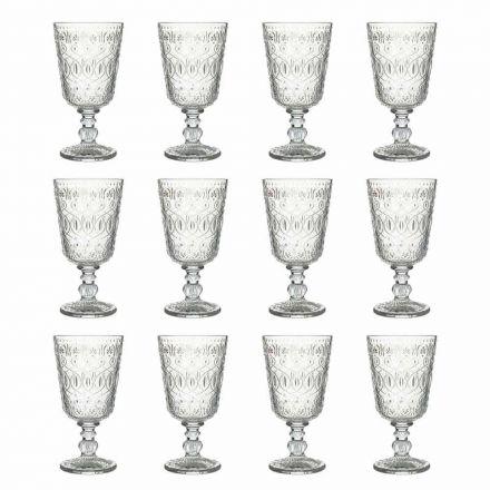 Vinbriller i gennemsigtigt dekoreret glas 12 designbægre - Maroccobic
