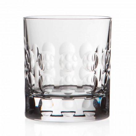 Dobbelt gammeldags krystal whiskyglas 12 stykker - Titanioball