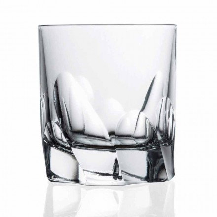 Dekoreret krystalglas whisky eller vand 12 stykker Dof Design - Titanium