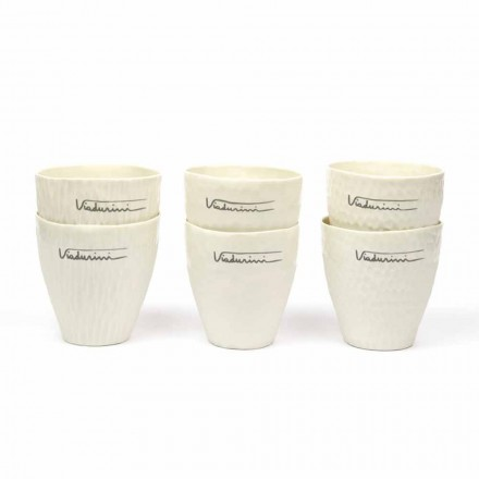 Luksus design hvide porcelænsbriller 6 unikke stykker - Arcireale