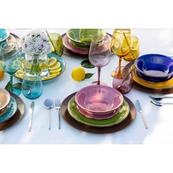 Farvede glas tumbler til vand moderne service af 12 stykker - Aperi
