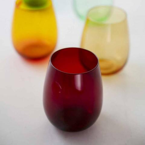 Farvede glas tumbler til vand moderne service af 6 stykker - Aperi