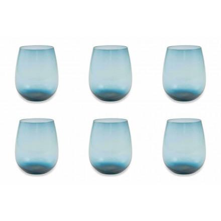 Moderne og farvede glas vandbriller Service af 12 stykker - Aperi