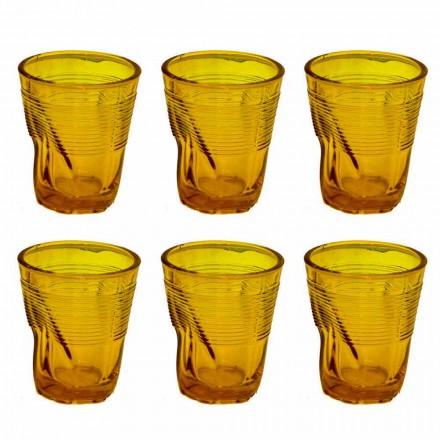Moderne farvede glas vandbriller 12 stykker af design - Sarabi