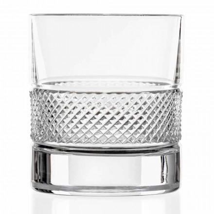 Low Tumbler Glasses i Eco Crystal med luksuriøs dekoration 12 stykker - Milito