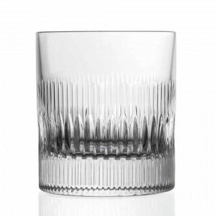 Crystal Whisky og vandbriller 12 stykker dekoration i vintage stil - taktil