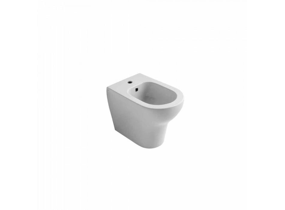 Bidet moderne design i hvid keramik 54x35 cm Star, fremstillet i Italien