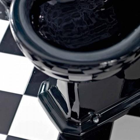 Bidet i hvid eller sort klassisk keramik fra jorden fremstillet i Italien - Marwa