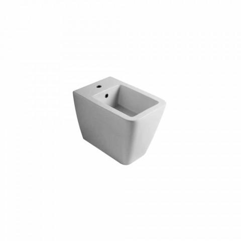 Bidet hvid keramik moderne design Sun 55x35 cm Made in Italy