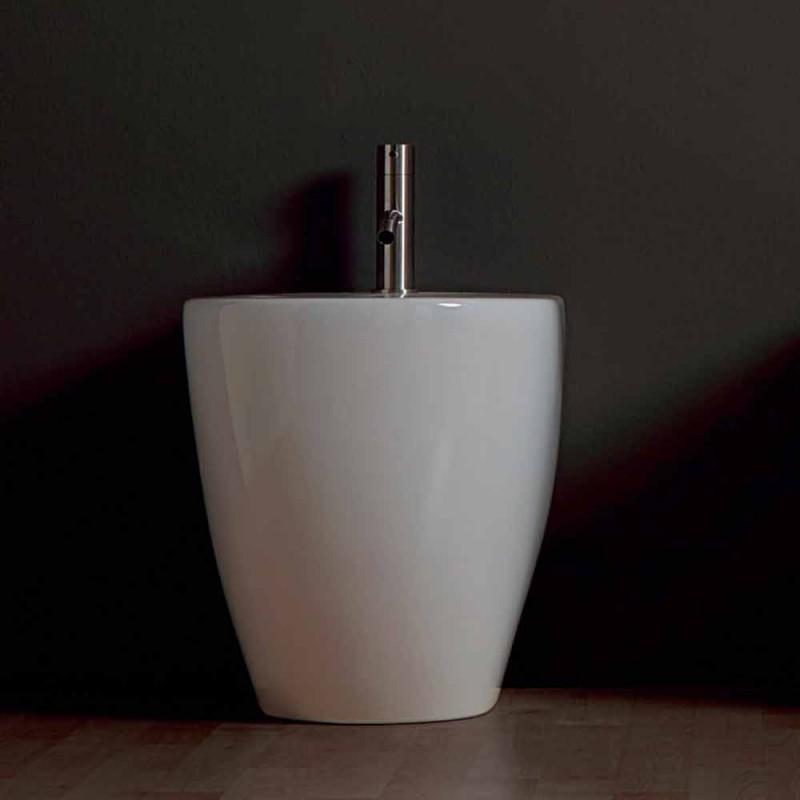 Bidet moderne keramiske Shine Square Uindfattet 54x35cm Made in Italy