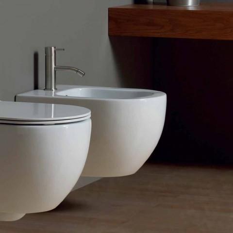 Bidet moderne affjedring hvid keramik stjerne 50x35cm Made in Italy