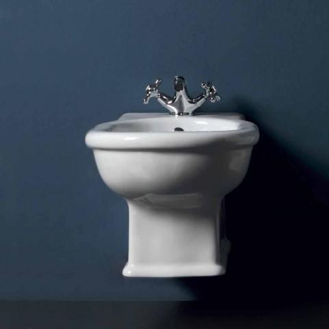 Hung bidet Moderne Stil 54x36 cm i hvid keramik, lavet i Italien