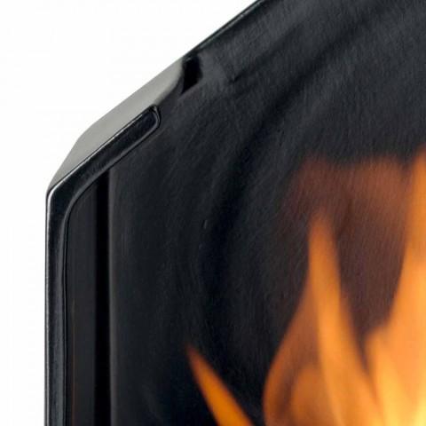 Biocamino bordplade med keramisk bioethanol og Curtis stål