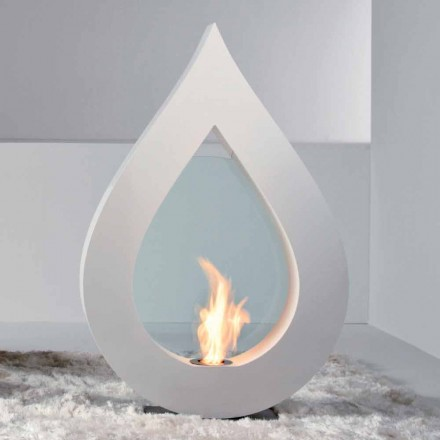 Biocamino fra bioethanol jord, flamme moderne design i form Todd