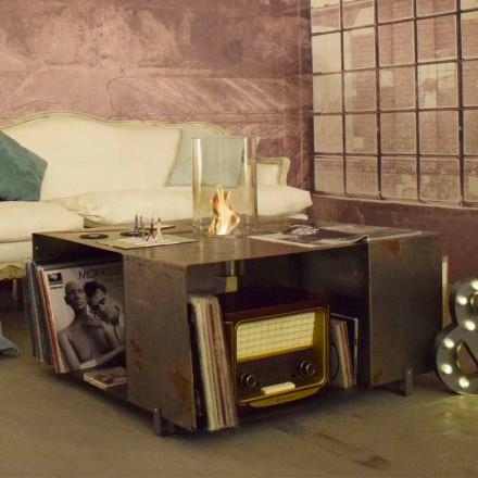 Gulv Biopejs og sofabord i moderne design i stål - Christopher