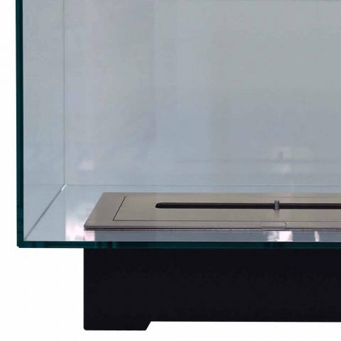 Bio-pejs i moderne design gulv i glas og stål eller Corten - Bradley