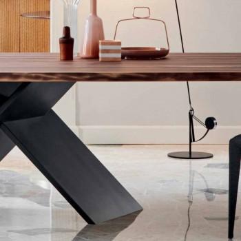 Bonaldo Axis designbord i træ med naturlige kanter lavet i Italien