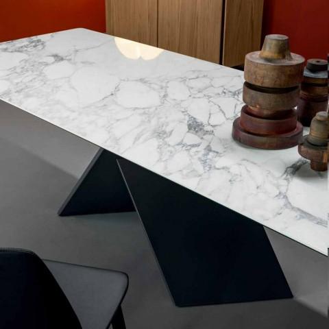 Bonaldo Axe fladt designbord i keramisk metalbase lavet i Italien