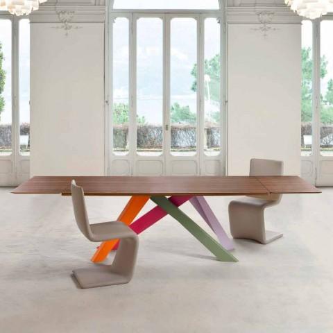 Bonaldo Big Table udvidelig træfinerbord lavet i Italien