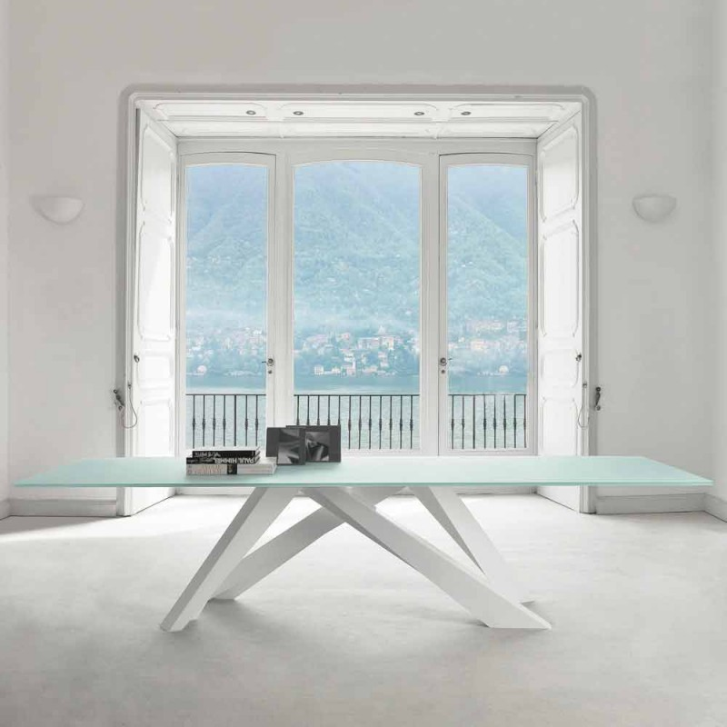 Bonaldo Big Table ekstra klart glasbord lavet i Italien