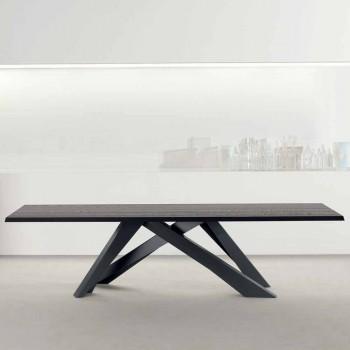 Bonaldo Big Table massivt antracitgrå træbord lavet i Italien